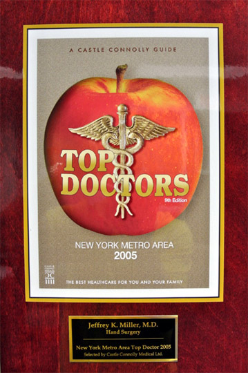 Top Doctor in New Jersey 2005 Award - Hand Specialty